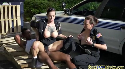 Milf and young, Young threesome, Bang cops