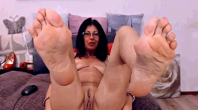 Mature feet, Latina mature