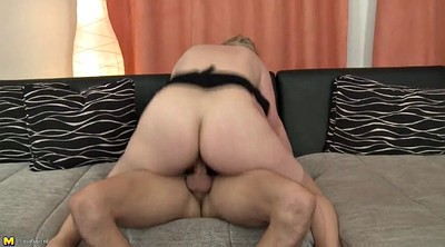 Mature blowjob, Young mother, Wake up, Son mother, Mother son, Wake
