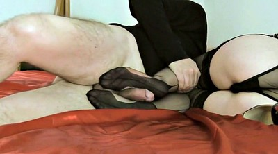 Footjob cumshot, Stocking footjob, Stockings footjob, Black stockings, Black stocking