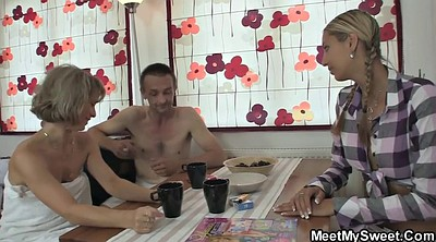 Grannies, Young couple, Mature and young, Granny threesome