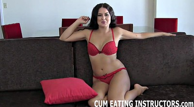 Goddess, Eat, Cum eating, Cum eat