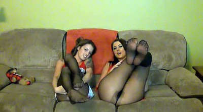 Pantyhose feet, Pantyhose cum, Girl feet
