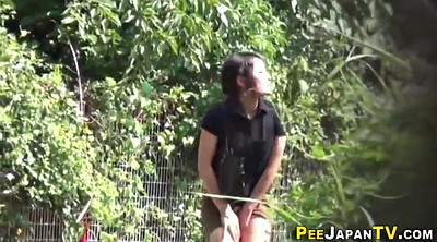 Watching, Japanese public, Japanese outdoor, Japanese teens, Japanese pee