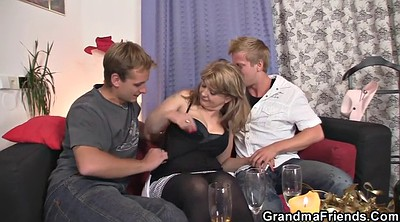 Wife threesome, Lady, Hot wife, Old lady