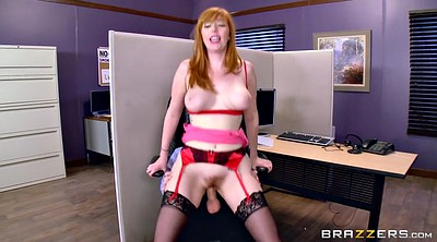Boss, Lauren, Hairy redhead, Office boss, Boss fuck, Big tits at work