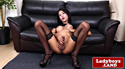 Solo latex, Asian ladyboy, Asian show, Asian shemale, Tease solo, Jerking