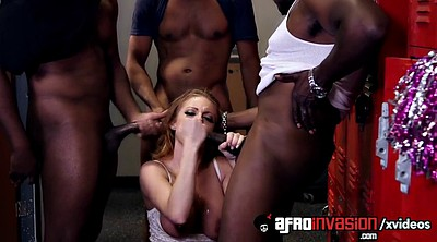 Black, Locker room, Teacher gangbang, Blowbang