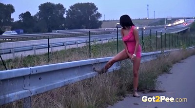 Outside, Teen piss, Girl pee, Pissing compilation
