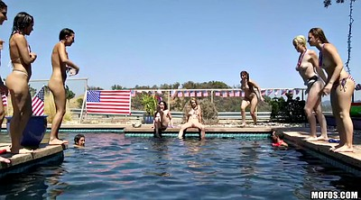 Pool, American, Party handjob