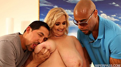 Fat interracial, Bbw threesome