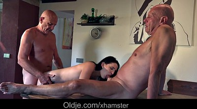 Kitchen, Teen and old, Granny fingering