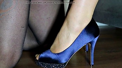 Nylon feet, Nylon foot, Blue