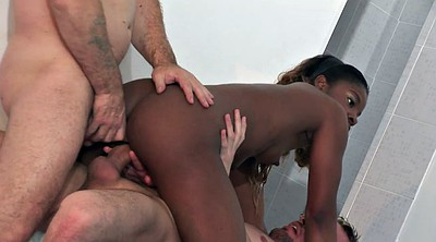Double penetration, Anal interracial