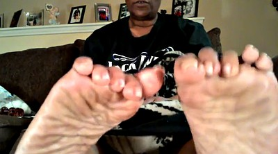 Pregnant, Foot, Black granny, Mature foot