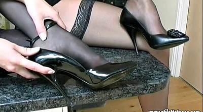 High heels, Nylons, High, High-heeled shoes