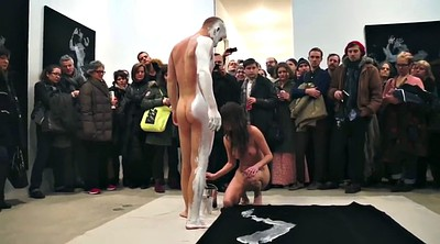 Nude, Softcore, Body painting, Paint, Public a