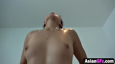 Asian white, Fuck, Asian big cock, Asian tits, Asian girlfriend