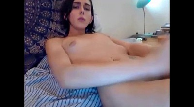 Trans, Shemale cum, Teen solo, Cum on stomach