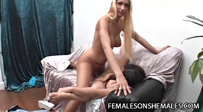 Shemale and female, Kinky, Female orgasm, Shemale on female