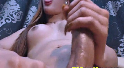 Caught, Shemale solo, Solo cumshot