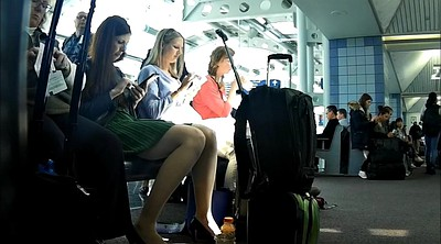Candid feet, Airport