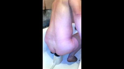 Amateur cuckold, Huge dildo