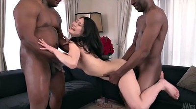 Japanese big tits, Interracial creampie, Japanese threesome, Ebony creampie, Missionary creampie, Japanese small