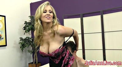 Slave, Julia ann, Stockings footjob, Stocking footjob