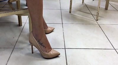 College, Heels, Tatooed, High heels, Candid