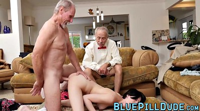 Short hair, Older, Young anal, Old guy