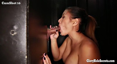 Gloryhole, Older, Boobs sucking, Asian boobs