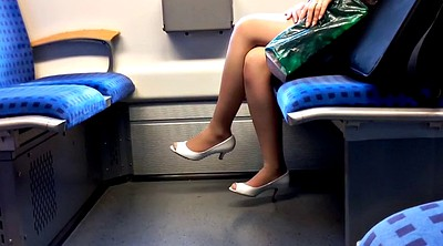 Nylon, Train, Foot nylon, Peeping