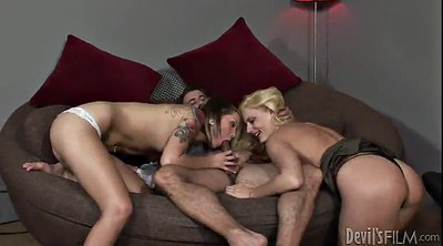 Lucky guy, Threesome licking