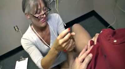 Mature handjob, Grannies