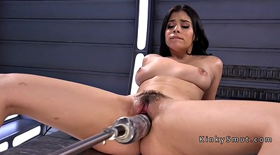 Inserted, Big dildo, Machine fuck