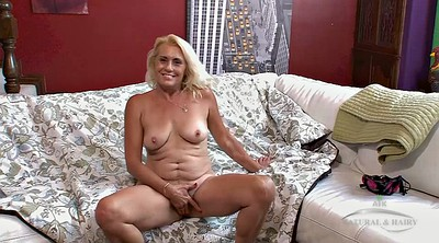 Saggy, Mature casting, Hairy pussy