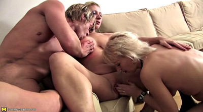 Mature, Old, Dirty, Mom boy, Seduce, Granny gangbang