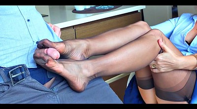Cfnm, Nylon foot, Nylon footjob, Wife foot, Nylon feet, Stockings footjob