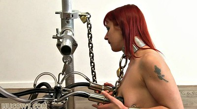 Machine, Tit torture, Red, Bdsm machine