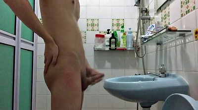 Chinese, Chinese handjob, Chinese gay, Masturbation shower