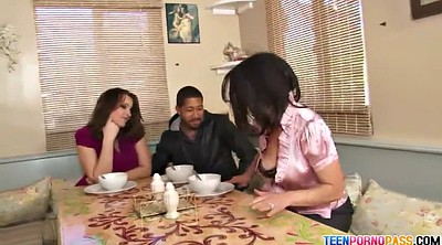 Mom threesome, Blowjob mom