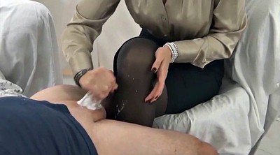 Nylon, Stocking cum, Pantyhose cum, Nylon handjob, Gay pantyhose, Stock
