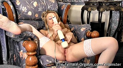 Stockings, Wet pussy, Blond