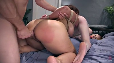 Bondage, Bondage fuck, Tits whipping, Doggystyle, Mature big tits, Mature ass