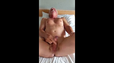 Phone, Hotel, Gay daddy, Masturbate, Super cock