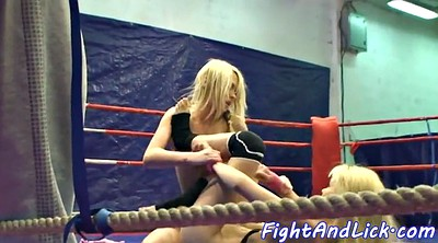 Oral, Fight, Boxing, Ring, Box, Lesbian fight