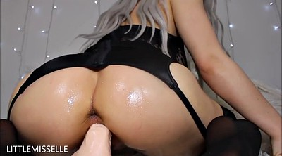 Messy, Oil masturbation, Oil dildo