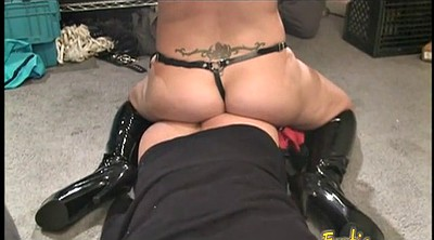 Spanked, Cum boots, Boots femdom