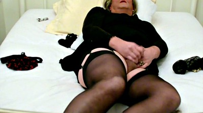 Stocking, Self bondage, Black stocking, Stocking masturbation, Black stockings